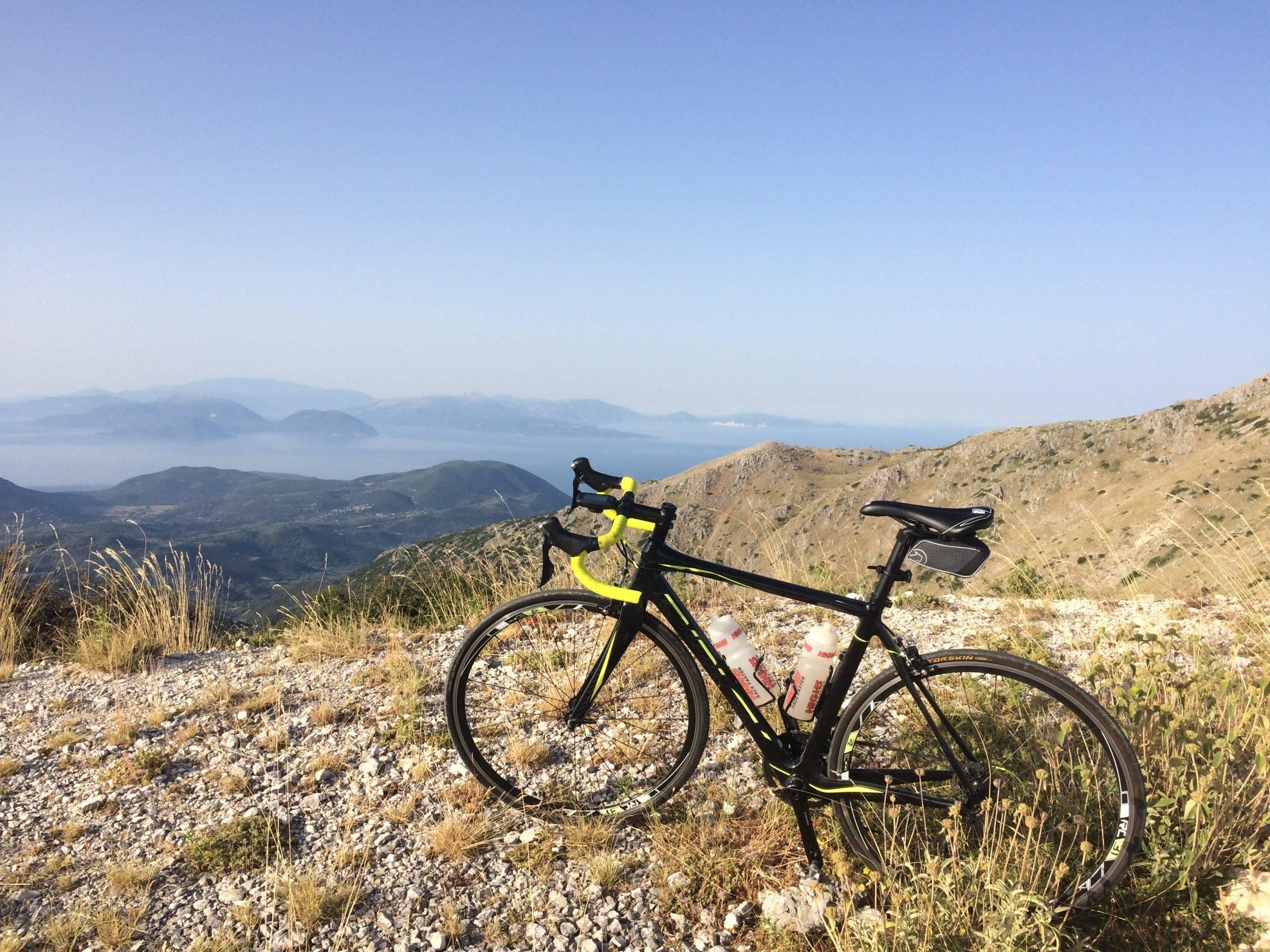 road biking lefkada